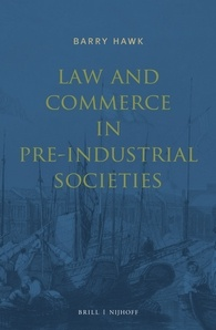 Cover_Law and Commerce in Pre-Industrial Societies